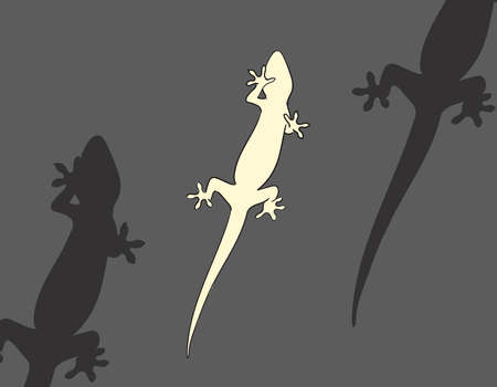 A Lizard From Below in Vector Illustration Format 免版税图像 - 157545561