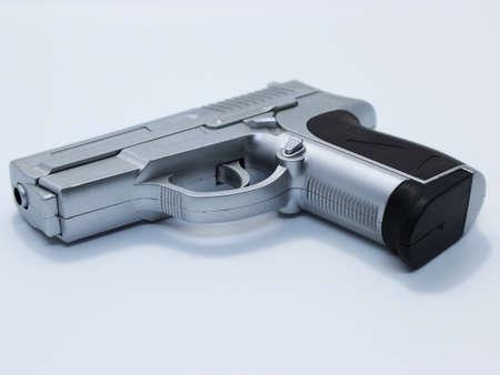 Airsoft gun toy background.