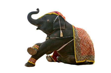 fondo de circo: espectáculo de elefante Foto de archivo