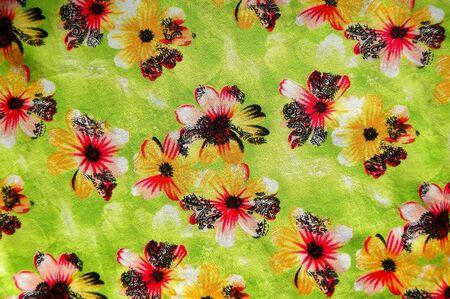 flower paint on fabric photo