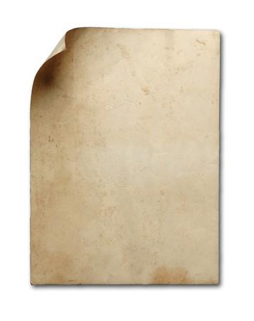 pergamino: papel antiguo