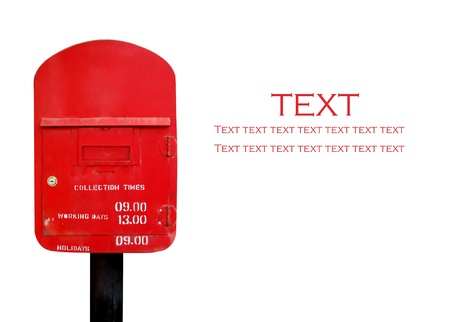 postbox isolated photo