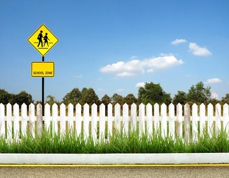 school zone sign  photo