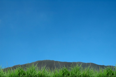 mountain and blue sky Stock Photo - 8429070
