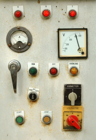 electronic meter: old control panel