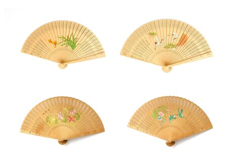 bamboo fan isolated Stock Photo - 8472108