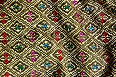 texture of thai style fabric photo