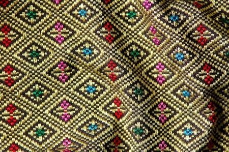texture of thai style fabric photo