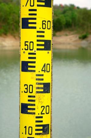 water niveau meting Stockfoto