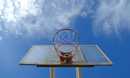 iron hoops: basketball board Stock Photo
