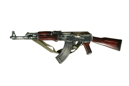 old rifle: ak-47 isolated Stock Photo