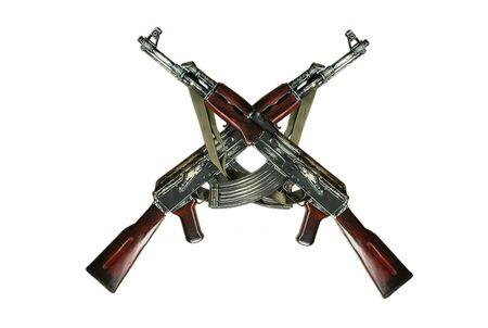 pistola: AK-47 aislado Foto de archivo