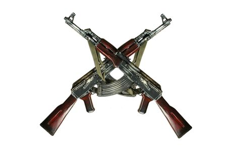 ak-47 isolated photo