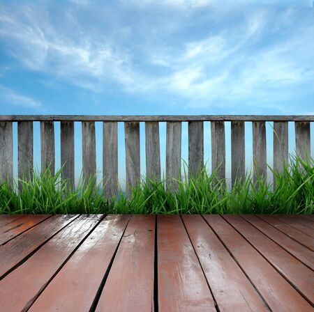 wooden terrace Stock Photo - 8883848