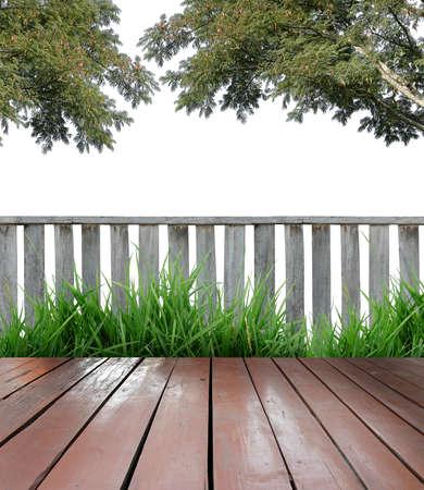 wooden terrace photo