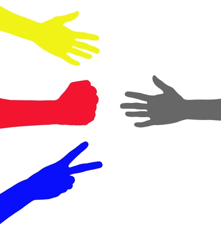 colorful hand illustration illustration
