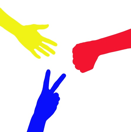 colorful hand illustration Stock Illustration - 8883700