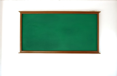 green board on white wall photo