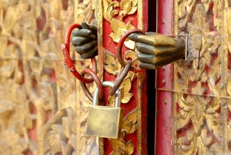 locked door: door locked