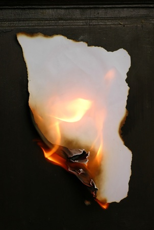burning paper photo