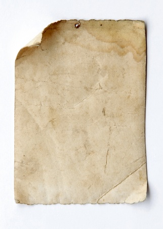 sheet of paper: old paper