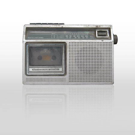 old radio cassette recorder isolated Stock Photo - 9355934