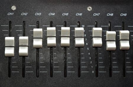 controls of an audio mixing device  photo