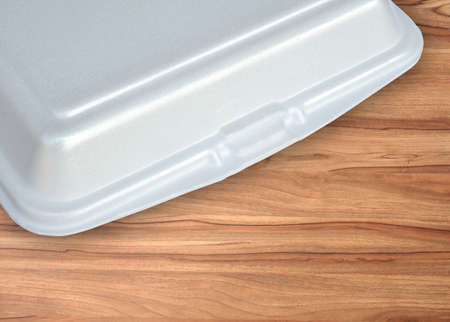cfc: foam meal box  on wooden table
