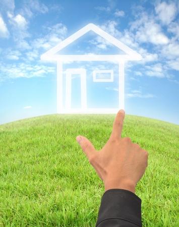 hand drewing an imagine house photo