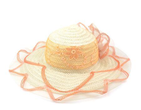 brim: Fashion lady hat isolated on white background