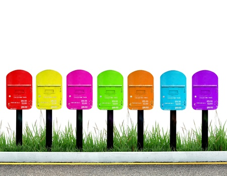 7 color postbox for a week Stock Photo - 9843029