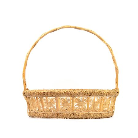 basket made from bamboo and reed photo