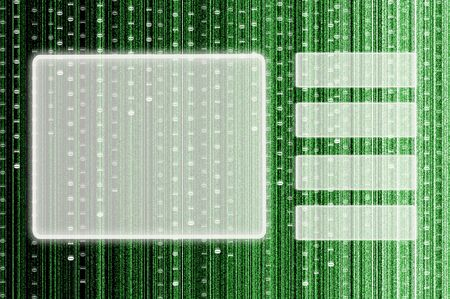 touch screen interface with digital matrix background Stock Photo - 10051579
