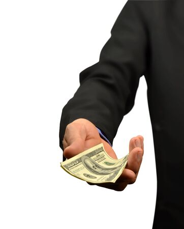business man holding money in hand Stock Photo - 10082991