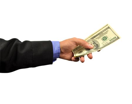 business man holding money in hand  Stock Photo - 10082997