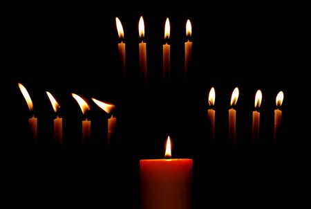 candle burn in the dark background Stock Photo - 10388233