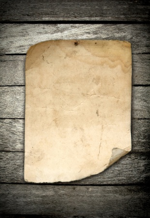 old paper on wood background
