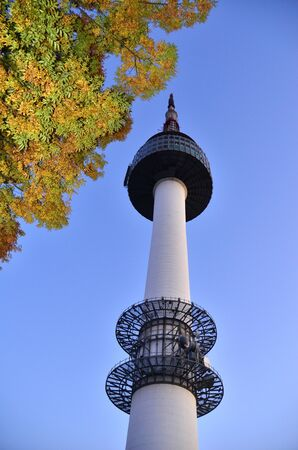 seoul: Seoul Tower or namsan tower, South Korea  Editorial