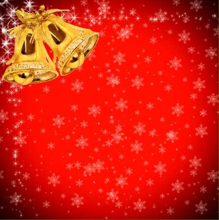 christmas gift with decorative red ribbon bow Stock Photo