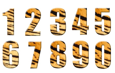 tiger stripe: alphabet in style of a tiger skin Stock Photo