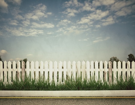 vintage picture of fence Stock Photo - 12634104
