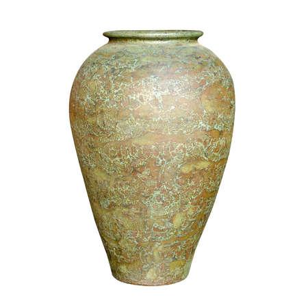 antique vase: Beautiful painted vase on a pure white background  Stock Photo