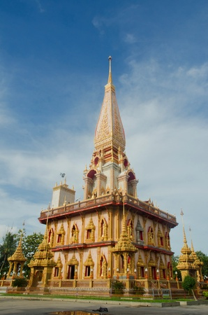 chalong: Buddhist stupa in Wat Chalong temple