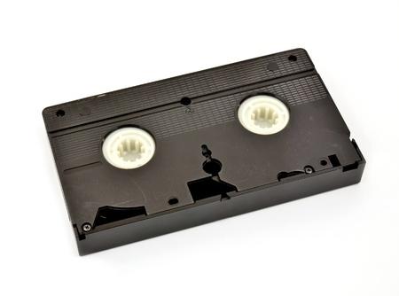 vdo: Old  vhs video cassette isolated on white background