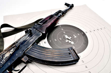 ak 74: ak 74 on a paper target