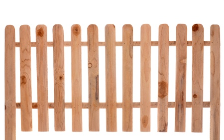 wooden fence isolated on white baclground
