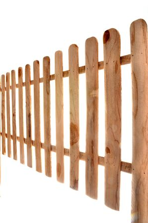baclground: wooden fence isolated on white baclground