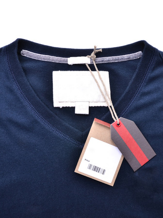 price tag: new shirt with price tag