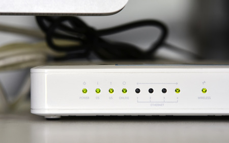 this is an adsl router modem photo