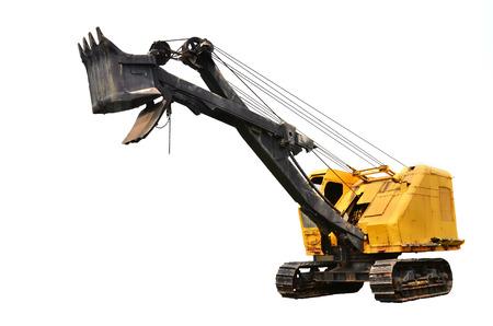 coking: coal mine excavator vehicle isolated on white